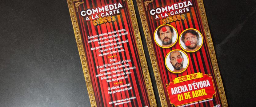 """Flyer """"Commedia à la carte"""""""