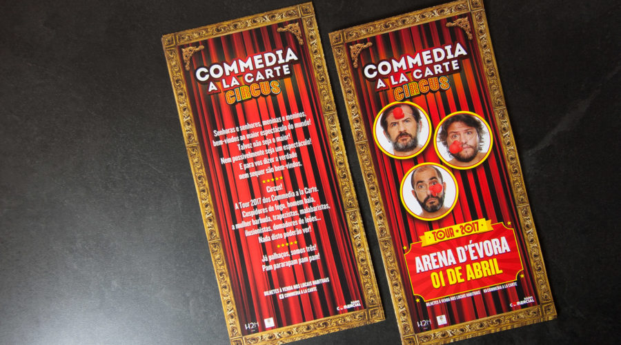 "Flyer ""Commedia à la carte"""