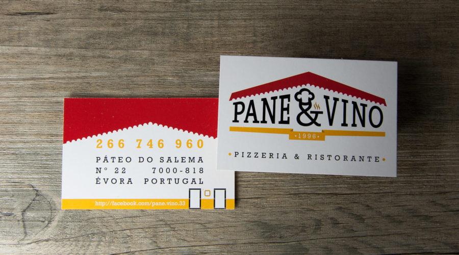 Cartões de Visita Pane & Vino